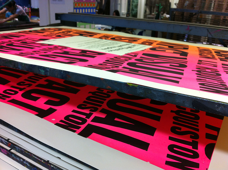 Posters being printed